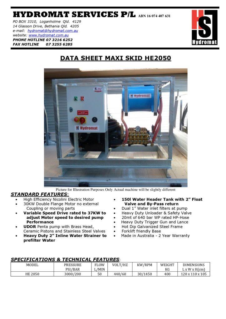 thumbnail of HE MAXI SKID 2050 Mining