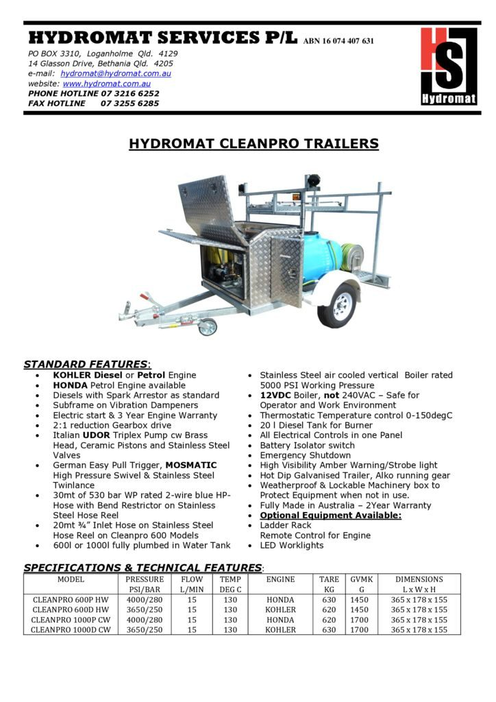thumbnail of CLEANPRO TRAILERS